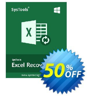 SysTools XLSX Recovery (Business) 프로모션 코드 SysTools coupon 36906 프로모션: