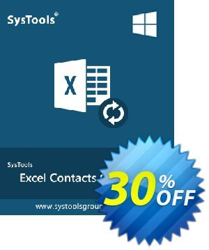 SysTools Excel Contacts Converter割引コード・30% OFF SysTools Excel Contacts Converter, verified キャンペーン:Awful sales code of SysTools Excel Contacts Converter, tested & approved