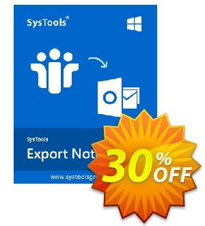 SysTools Export Notes - NSF to PST Converter (Multi-user) discount coupon Weekend Offer -
