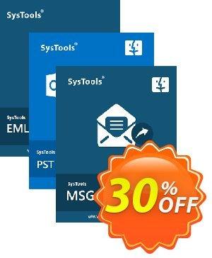 Bundle Offer: SysTools Mac MSG Converter + Mac PST Converter + Mac EML Converter discount coupon 30% OFF Bundle Offer: SysTools Mac MSG Converter + Mac PST Converter + Mac EML Converter, verified - Awful sales code of Bundle Offer: SysTools Mac MSG Converter + Mac PST Converter + Mac EML Converter, tested & approved