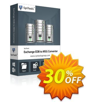 Exchange EDB to MSG Converter (Business) 優惠券,折扣碼 SysTools coupon 36906,促銷代碼: