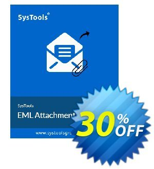 SysTools EML Attachment Extractor Coupon, discount 30% OFF SysTools EML Attachment Extractor, verified. Promotion: Awful sales code of SysTools EML Attachment Extractor, tested & approved