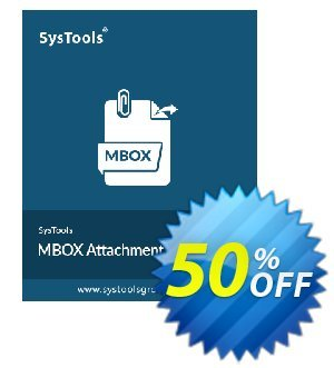 SysTools MBOX Attachment Extractor discount coupon 50% OFF SysTools MBOX Attachment Extractor, verified - Awful sales code of SysTools MBOX Attachment Extractor, tested & approved
