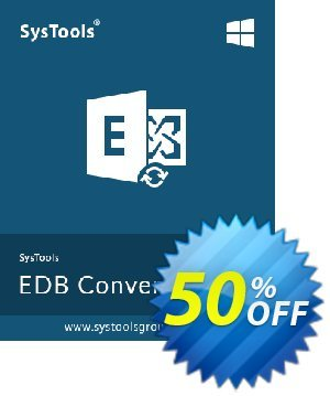 Exchange EDB to EML Converter - Personal License Coupon, discount SysTools coupon 36906. Promotion:
