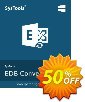 SysTools Exchange EDB to EML Converter (Enterprise) 優惠券,折扣碼 SysTools coupon 36906,促銷代碼: