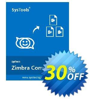 Get SysTools Zimbra Converter 30% OFF coupon code