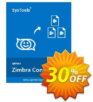Get SysTools Zimbra Converter (Business License) 30% OFF coupon code