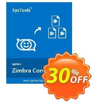 Get SysTools Zimbra Converter (Enterprise License) 30% OFF coupon code