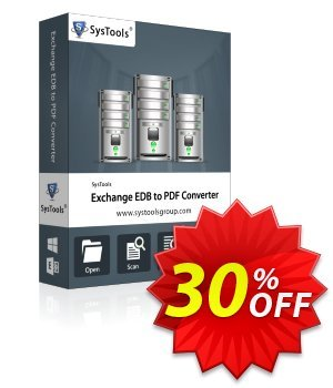 SysTools Exchange EDB to PDF Converter (Enterprise) 優惠券,折扣碼 SysTools coupon 36906,促銷代碼: