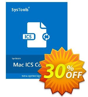 SysTools Mac ICS Converter Coupon, discount 30% OFF SysTools Mac ICS Converter, verified. Promotion: Awful sales code of SysTools Mac ICS Converter, tested & approved