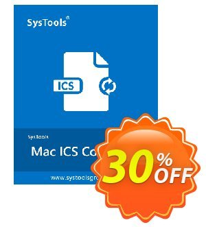 Get SysTools Mac ICS Converter Enterprise License 30% OFF coupon code