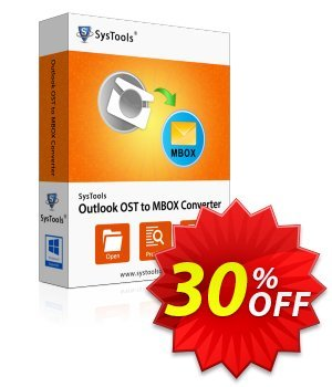 SysTools Outlook OST to MBOX Converter discount coupon SysTools Summer Sale -