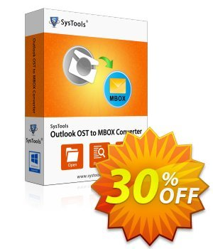 Outlook OST to MBOX Converter - Business License discount coupon SysTools Summer Sale -