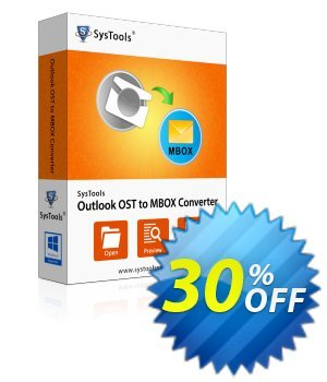 Outlook OST to MBOX Converter - Enterprise License discount coupon SysTools Summer Sale -
