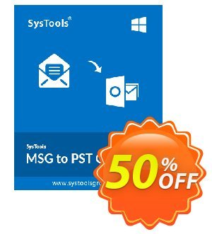 SysTools MSG to PST Converter discount coupon SysTools Summer Sale -