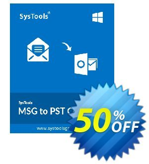 SysTools MSG to PST Converter (Business) discount coupon SysTools coupon 36906 -