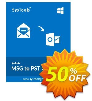 SysTools MSG to PST Converter (Enterprise) Coupon discount SysTools coupon 36906. Promotion: