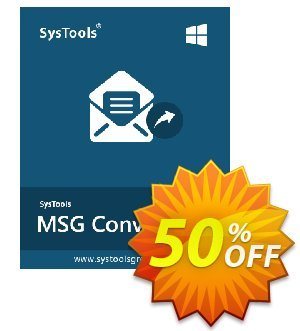 SysTools MSG to EML Converter (Enterprise License) 优惠券
