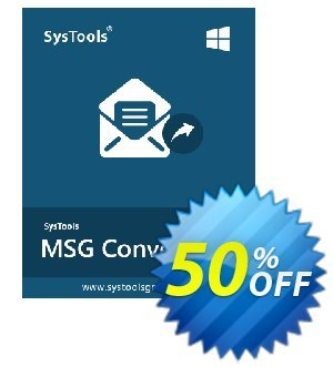 SysTools MSG to EML Converter (Business License) 프로모션 코드 SysTools coupon 36906 프로모션: