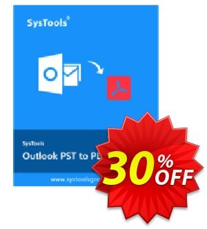 SysTools Outlook PST to PDF Converter offering sales