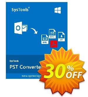 Outlook Conversion - Personal License Coupon, discount SysTools coupon 36906. Promotion: