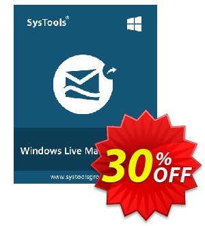 Windows Live Mail Converter - Personal License Coupon, discount SysTools coupon 36906. Promotion: