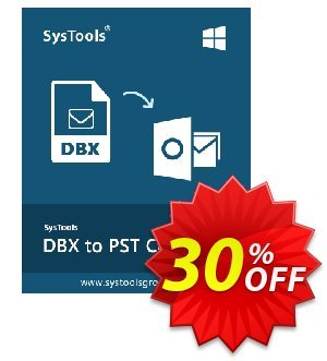 SysTools DBX Converter (Business License) 優惠券,折扣碼 SysTools coupon 36906,促銷代碼: