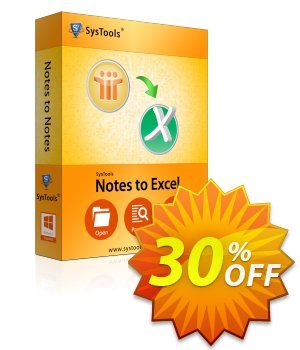 SysTools Notes to Excel 優惠券,折扣碼 SysTools Summer Sale,促銷代碼: