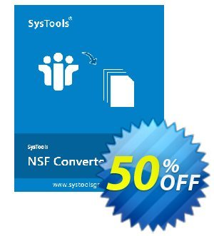 SysTools NSF Converter (Personal License) discount coupon SysTools coupon 36906 -