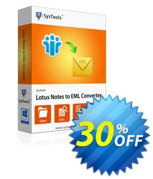 SysTools Lotus Notes to EML Converter (Outlook Express) discount coupon SysTools Summer Sale -