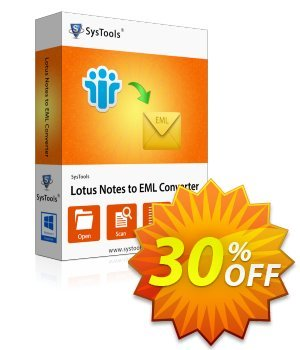 SysTools Lotus Notes to EML Converter (Business) discount coupon SysTools coupon 36906 -