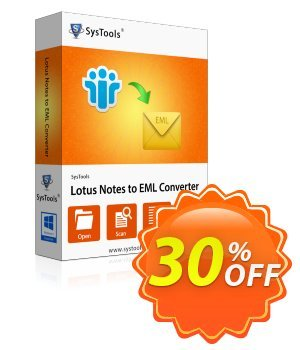 Lotus Notes to Outlook Express - Business License Coupon, discount SysTools coupon 36906. Promotion: