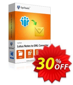 SysTools Lotus Notes to EML Converter (Enterprise) discount coupon SysTools coupon 36906 -