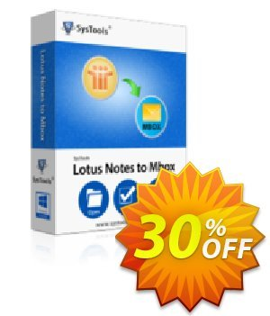 SysTools Lotus Notes to MBOX Converter discount coupon SysTools Summer Sale -