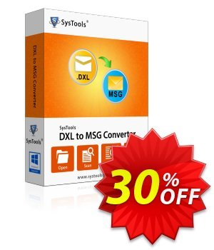 SysTools DXL to MSG Converter (Academic) discount coupon SysTools coupon 36906 -
