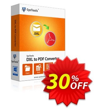 SysTools DXL to PDF Converter (Academic) discount coupon SysTools coupon 36906 -