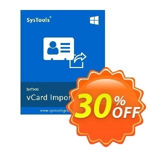 SysTools vCard Importer Coupon discount SysTools Summer Sale. Promotion: