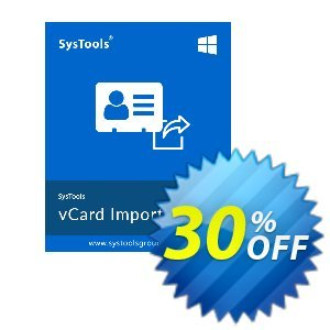 vCard Importer - Business License Coupon, discount SysTools coupon 36906. Promotion:
