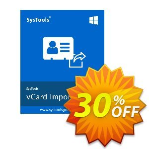 SysTools vCard Importer (Business) Coupon, discount SysTools coupon 36906. Promotion: