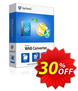 SysTools WAB Converter (Business) 優惠券,折扣碼 SysTools coupon 36906,促銷代碼: