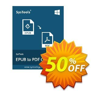 EPUB to PDF Converter - Personal License Coupon, discount SysTools coupon 36906. Promotion: