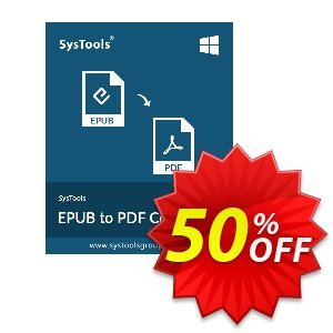 SysTools EPUB to PDF Converter (Enterprise) Coupon discount SysTools coupon 36906. Promotion: