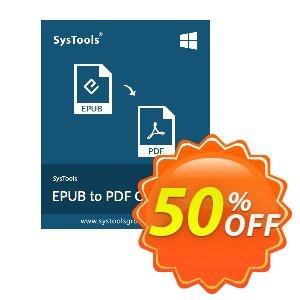 EPUB to PDF Converter - Enterprise License Coupon, discount SysTools coupon 36906. Promotion: