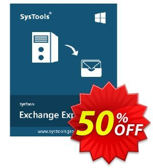Exchange Export - Upto 50 Users License Coupon, discount SysTools coupon 36906. Promotion:
