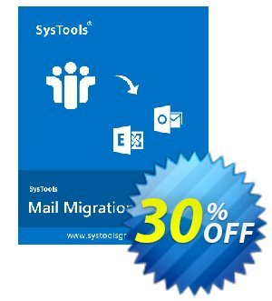 Mail Migration Wizard - Enterprise License Coupon, discount SysTools coupon 36906. Promotion: