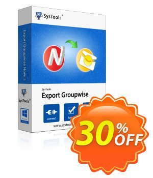 Export GroupWise - Personal License Coupon, discount SysTools coupon 36906. Promotion: