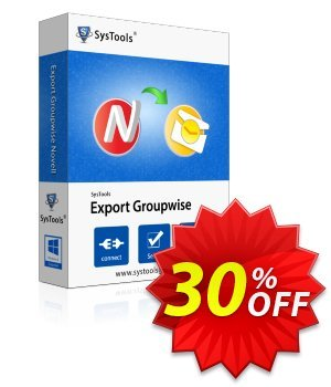 Export GroupWise - Enterprise License Coupon, discount SysTools coupon 36906. Promotion: