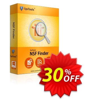 NSF Finder - Business License Coupon, discount SysTools coupon 36906. Promotion: