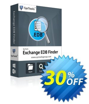 EDB Finder - Personal License Coupon, discount SysTools coupon 36906. Promotion: