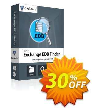 SysTools EDB Finder (Business License) discount coupon SysTools coupon 36906 -